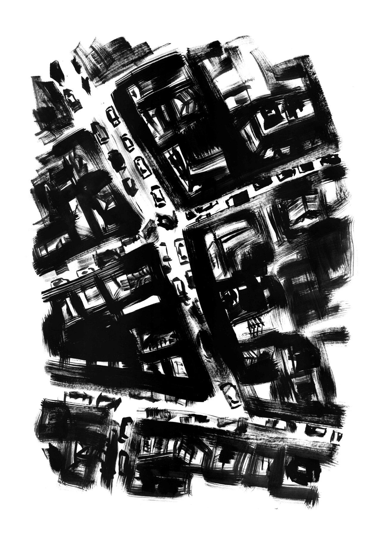 davide catania - parigi - serigrafia